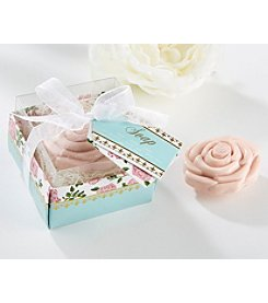 Kate Aspen Set of 6 Tea Time Whimsy Pink Rose Soap