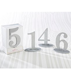 Kate Aspen Silver Glitter Acrylic Table Numbers (1-6)