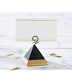 Kate Aspen Set of 12 Gold Dipped Pyramid Place Card Holder