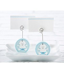 Kate Aspen Set of Baby Boy Blue Place Card Holder