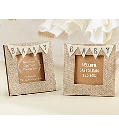 Kate Aspen Set of 12 Rustic Baby Burlap Frames