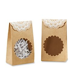 Kate Aspen Set of 12 Rustic Kraft Tent Favor Boxes