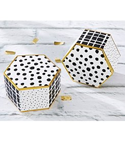 Kate Aspen Set of 12 Modern Classic Hexagon Favor Boxes