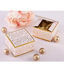 Kate Aspen Set of 12 Modern Romance Square Favor Boxes