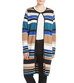 Calvin Klein Plus Size Striped Cardigan Sweater