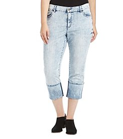 Jones New York® Plus Size Cuff Destructed Bleeker Jeans