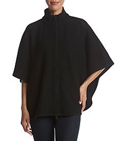 Anne Klein® Zip Front Wool Cape