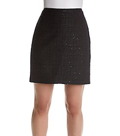 Anne Klein® Zip Tweed Skirt