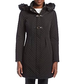 Ivanka Trump® Quilted Fit And Flare Quilted Coat