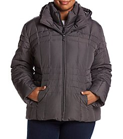Calvin Klein Plus Size Down Hooded Jacket