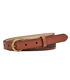 Fossil® Lasered Crescents Belt