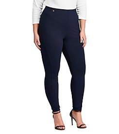 Lauren Ralph Lauren Plus Size Solid Skinny Fit Pants