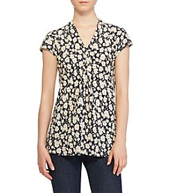 Lauren Ralph Lauren® Gathered Floral Cap Sleeve Top
