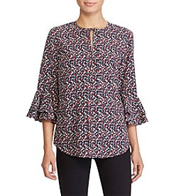 Lauren Ralph Lauren® Printed Bell Sleeve Top