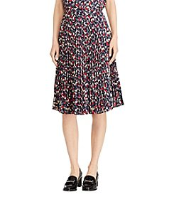 Lauren Ralph Lauren ® Pleated Geometric Print Skirt