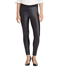 Lauren Ralph Lauren® Faux Leather Skinny Pants
