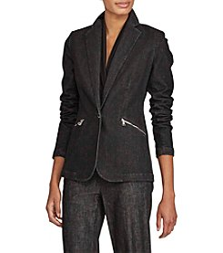 Lauren Ralph Lauren® Zip Pocket Denim Blazer