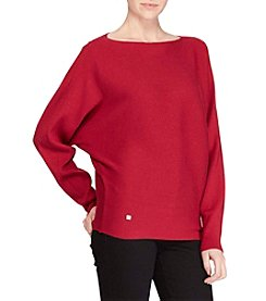 Lauren Ralph Lauren® Petites' Loose Fit Horizontal Ribbed Sweater