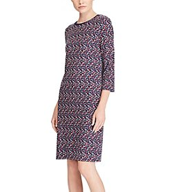 Lauren Ralph Lauren® Petites' Geometric Print Casual Dress