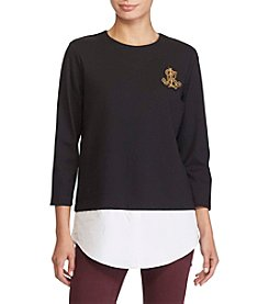 Lauren Ralph Lauren® Petites' Monogrammed Layered Look Top