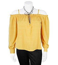 A. Byer Plus Size Off-Shoulder Top