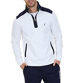 Nautica Mock Neck Long Sleeve Pullover