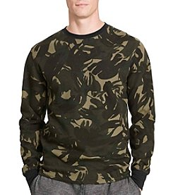 Polo Ralph Lauren Men's Camo Waffle-Knit Thermal Crew