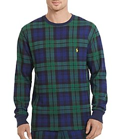 Polo Ralph Lauren Men's Plaid Waffle-Knit Thermal Crew