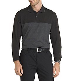 Van Heusen® Men's Long Sleeve Colorblocked Polo Shirt