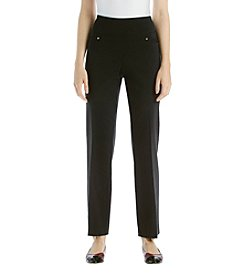 Briggs New York® Straight Leg Button Detail Pants