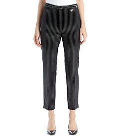 Studio Works® Pinstripe Belted Ankle Pants