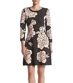 Calvin Klein Floral Sweater Dress