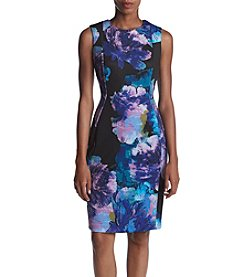Calvin Klein Floral Printed Scuba Knit Dress