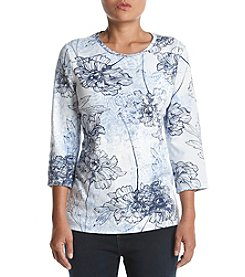 Studio Works Petites' Crew Neck Printed Top