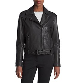 Kenneth Cole New York Classic Moto Jacket