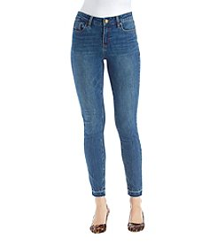 Kenneth Cole New York Frayed Hem Skinny Jeans
