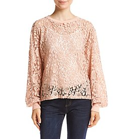 Eyeshadow Floral Lace Illusion Top