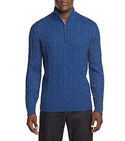 IZOD Men's Fieldhouse Cable Knit Pullover Sweater