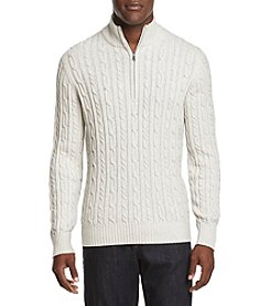 IZOD Fieldhouse Cable Knit Pullover Sweater