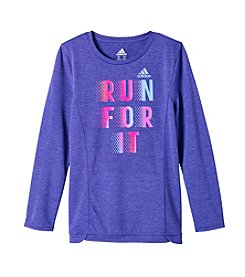 adidas Girls 8-16 Long Sleeve Winning Vibes Top