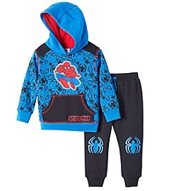 Boys' 2T-4T Spider-Man 2 Piece Printed Hoodie And Pants Set