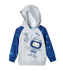 Nannette Boys' 2T-4T Knit Astronaut Hooded Pullover