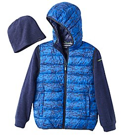 Hawke & Co. Boys' 8-20 Long Sleeve Vest And Hat
