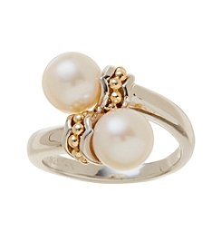 0.04 ct. t.w. Diamond and Pearl Ring