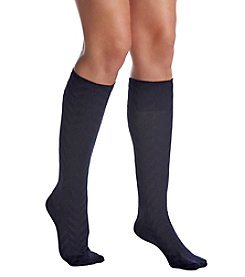 HUE® Herringbone Knee High Socks