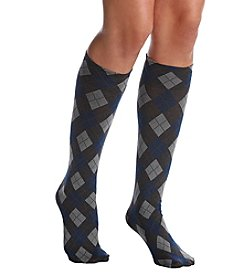 HUE® Argyle Knee High Socks