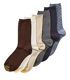 GOLD TOE® 6-Pack Texture Casual Crew Socks