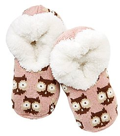 Fuzzy Babba® Teddy Fur Owl Slipper Socks