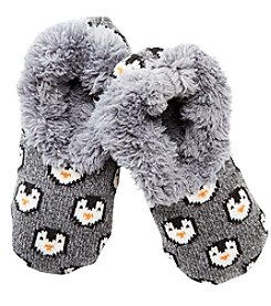 Fuzzy Babba® Teddy Fur Penguin Slipper Socks
