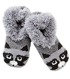 Fuzzy Babba® Teddy Fur Racoon Slipper Socks